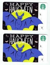 Halloween Gift Cards Details About Starbucks Halloween Collectible Gift Cards 2019 Lot Of 2 No Value Bat