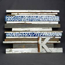 reclaimed barn wood wall art with tile mosaic strips sculpture mixed media wall decor on white wood cutout wall art with reclaimed barn wood wall art with tile from the white birch