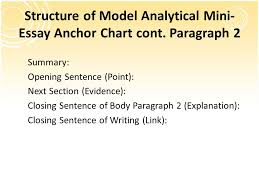 analyzing the model analytical mini essay ppt video online  structure of model analytical mini essay anchor chart cont paragraph 2