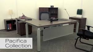modern lshaped desk  pacifica by nbf  youtube