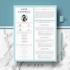 Kate 2 Hired Design Studio Modern Resume Format Best And Cv