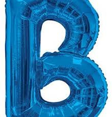 Blue Letters Royal Blue Letters Dots Party Boutique