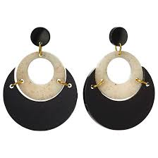 toolally by moonlight circle drop earrings black sandstone gd84480