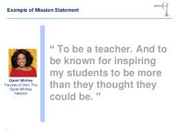 Mission Statement Example Personal Mission Statement Examples