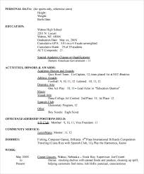 High School Resume Template Gorgeous 60 Sample High School Resume Templates Sample Templates