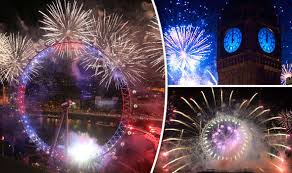 happy new year 2016 with fireworks. Beautiful New London Put On An Incredible Display To Happy New Year 2016 With Fireworks W