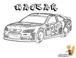 Coloring Pages Race Cars Nascar Find