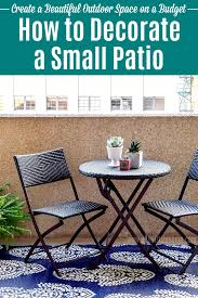 how to decorate a small patio on a budget decorate your apartment patio porch