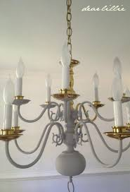 sightly painting brass chandeliers brass chandeliers outdated dear making over a chandelier with chalk paint simple