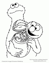 Cookie Monster Jar Coloring Pages Inside Cpaaffiliateinfo
