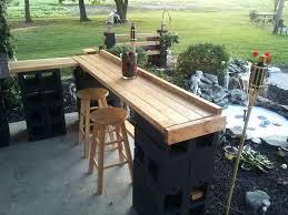 concrete block furniture ideas. Cinder Block Patio Bar Janice Lininger Diy Furniture Concrete Ideas E