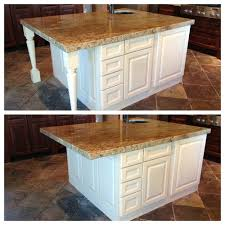 countertop support posts attractive kitchen island decorative legs or not