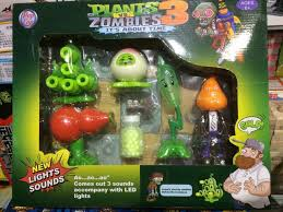 funny plants vs zombied garden warfare peashooter abs action figure model gifts toys for children with light can shoot bullets