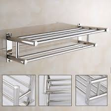 Towel holder Towel Rails Image Is Loading Stainlesssteelwallmountedbathtowelrackbathroom Ebay Stainless Steel Wall Mounted Bath Towel Rack Bathroom Holder Storage