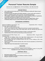 Resume For Fitness Trainer Personal Trainer Resume Lovely Fitness