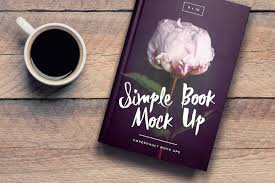 6 9 book on coffee table template mockup