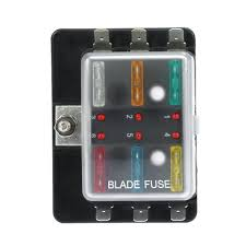 kkmoon 6 way 12v 24v blade fuse box holder with led warning light fuse block for boats at Fuse Box 12v