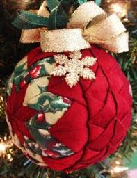 Tutorial on how to make these quilted star Christmas ornaments-use ... & quilted christmas ornaments | Quilted Christmas Ornament Red Braided PLUS  by ChristmasOrnament: Adamdwight.com