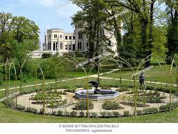 the golden rose garden in the park of lsberg palace in potsdam germany 03