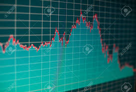 Stock Chart Analysis Tools Financial Graph On A Computer Monitor Screen Background Stock