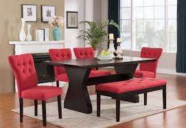Red Chairs For Living Room Acme 71515 Effie 6pcs Walnut Dining Table Set With Red Chairs