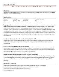 Hannah Kulik Esthetician Resume Esthetician Resume Sample Template