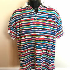 90s Pattern Shirts Mesmerizing Vintage Shirts 48s Ellesse Stripe Polo Shirt Colorful Rugby Surf