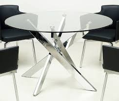 Modern Glass Kitchen Table Round Glass Dining Table Modern Glass Tables