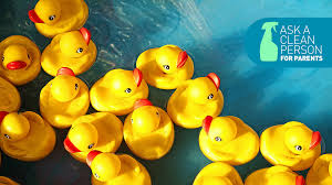 how to clean rubber duckies and other bath toys