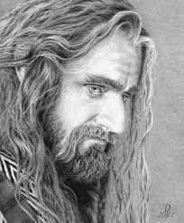 heirs of durin rdquo blog site by darkjackal is full of ldquo the hobbit 2 thorin oakenshield as portrayed by richard armitage pencil drawing image by darkjackal the image link is at