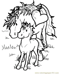 Small Picture Horse Coloring Pages Printable Free FunyColoring