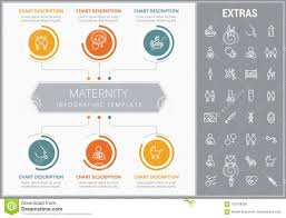Maternity Infographic Template Elements And Icons Stock
