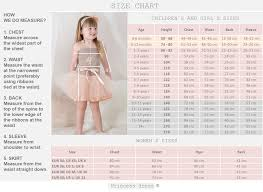 4 Year Girl Dress Size Chart Fairy Dress Birthday Dres Special Occasins Dress Mum And