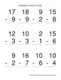 math worksheetfirst grade subtraction worksheets free printable ...