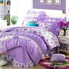 purple bed comforters bedding set sets cotton girls princess bedroom duvet cover twin full queen double