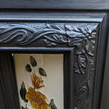 art nouveau antique cast iron fireplace insert