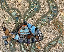 mosaic art by david chidgey underwater underwater stained iridescent sea glass