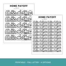 Home Loan Payoff Chart Mortgage Payoff Tracker Printable Home Loan Payoff Chart Debt Payoff Tracker