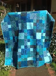 2297 best Quilts images on Pinterest | Bedspreads, Railings and Rugs & Image only, but beautiful inspiration for mixing different shades of one  color batiks: Beautiful Bali Batiks quilt by Ondine Poort. Adamdwight.com