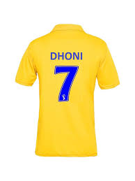Cricket Jersey Size Chart Buy Csk Ipl Cricket Jersey 2019 Unisex With Dhoni Printed