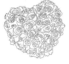 Small Picture Heart Of Roses Valentine Coloring Pages Valentine Coloring pages