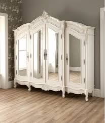 white wood wardrobe armoire shabby chic bedroom. White Wood Wardrobe Armoire Shabby Chic Bedroom. Antique French Style Stylish Bedroom R