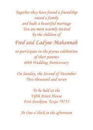 Print Your Own 60th Wedding Anniversary Invitation Wording Parents