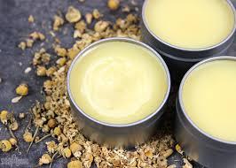 chamomile coconut oil balm diy