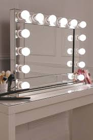 Mirrors With Lights Around Them Vanity Mirror With Led Light Bulbs Around It To Sit On Your