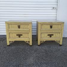 Vintage Dixie Furniture Shangri La nightstands