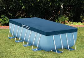 intex above ground pool rectangle. 153in X 72.5in Rectangular Pool Cover Intex Above Ground Rectangle