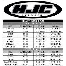Hjc Motorcycle Helmet Size Chart Disrespect1st Com
