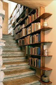 View in gallery Stone and Antique Staircase Bookshelf