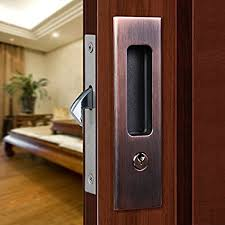 sliding door locks.  Sliding CCJH Sliding Door Locks Invisible Wooden Lock Furniture  Hardware Red Copper With N